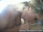 Busty Tera suck and rides on cock