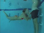 Erotic swimming lessons