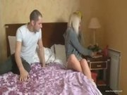 Nasty Russian blonde anal banged