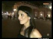 Watch Amandine strip in public!
