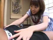 Asian schoolgirl bangs her next door neighbor