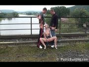 Extreme public-sex on a bridge