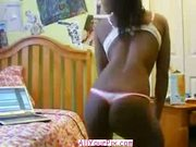 - Black Girl In Thong Stripping N Dancing Nude