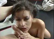 Latina girl sucking dick