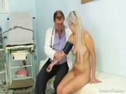 teen Sabina coming to her gyno doctor for pussy exam