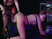 Hot bondage scene with Nina Hartley