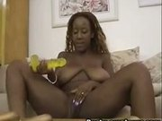 Sierra playing dildo with her mouth and pussy