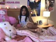 Asian Teen in Bed