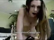 Amateur Masturbates on Dildo And Orgasms