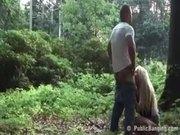 Public park sex with blond MILF