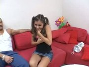 Michelle Maylene Drilled On The Couch