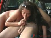 babe gets it hard on the hood