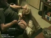 Wife blows her husband and gets facialed