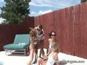 Swinger Girls in lesbian pool party