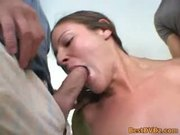 First time double fucking chick