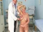Mature fat Radka gyno pussy speculum exam