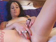 British Babe Rubs Her Play Box