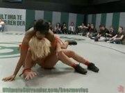 Unscripted Lesbian Wrestling