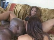 Isis Love and Hot Black Chick In A Threesome With A Big Dick!