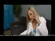 Big Ass Blonde Doctor Alexis texas finishes her shift with a big cock