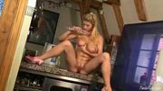 Foxy Chick Playing With Dildo