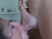 Wifey feast on a thick meat stick