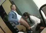 Submissive secretary fucks her boss!