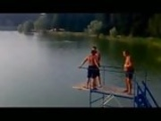 Girl Launched to Sky on Blob