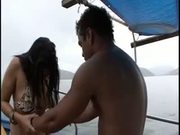 Brazilian Chick Fucking On The Boat