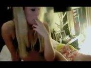 Hot blondie makes a masturbation video for her boyfriend