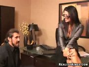 Eva Angelina at the office