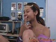 Indian babe hot blowjob scene