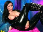 Hot european in a catsuit