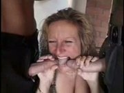 Old Lady With Jizz Covered Cunt