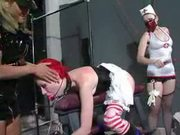 Red Head Slut Bonded And Spanked By Lezzies