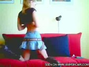 Blonde whore gets off hard!