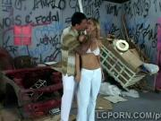 Gorgeous Brazilian model works as prostitute in nasty alley