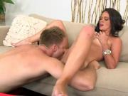 Hot MILF Dixie In Fuck Action With Dude As He Fingers And Licks Cunt
