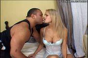 blonde big tit slut loves the black cock in the ass