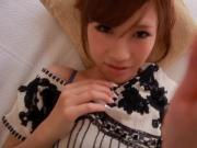 Petite asian pornstar Anna Anjou facialized
