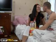 Good-Looking Brunette Girl Screwed By Throbbing Rod