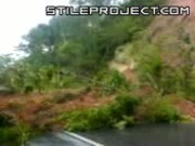 Landslide Hits Ambulance