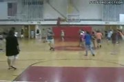 Kid Makes Amazing Full Court Flip Shot