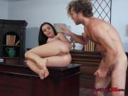 Hot Secretary Lana Rhoades Gets Impaled And Creamed By Boss