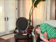 Mature Samantha Ryan busted teen couple fucking on the couch