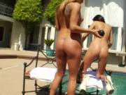 Outdoor milky squirting babes in the sun
