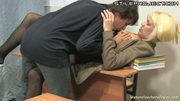 Mature blonde teacher fucking her student