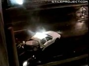 Car Is Oblivious To Accident Scene