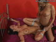 Amy Reid - Fucking tied up and bound slut Alektra with a strap-on