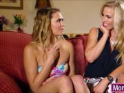 Mia Malkova likes 3some sex with stepmom and the lucky BF